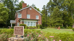 Billy Graham Family Homeplace in Charlotte NC Stock Footage
