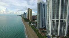 Aerial video Sunny Isles Beach FL 8 Stock Footage