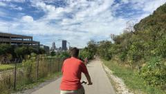 Bike Trail in Pittsburgh Suburbs Stock Footage