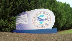 Carolinas Aviation Museum Entrance in Charlotte NC - stock footage