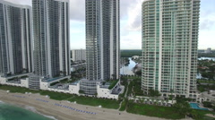 Aerial video Sunny Isles Beach condos 3 Stock Footage