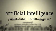 Definition: Artificial Intelligence - stock footage