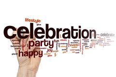 Celebration word cloud concept Stock Illustration
