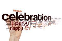 Celebration word cloud concept - stock illustration