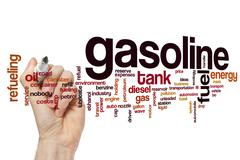 Gasoline word cloud concept - stock illustration