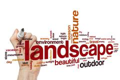 Landscape word cloud concept Stock Illustration