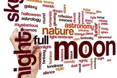 Moon word cloud concept Piirros