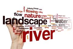 River word cloud concept Stock Illustration