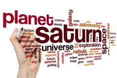 Saturn word cloud concept Piirros