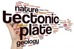 Tectonic plate word cloud concept Stock Illustration