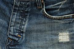 denim design of fashion jeans pants - stock photo
