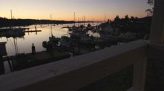 Ganges Harbor, Salt Spring Island Twilight, BC Stock Footage
