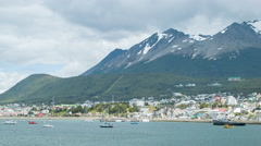 Ushuaia Argentina at the Foothills of Martial Mountain Stock Footage