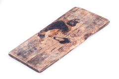 Old wood board weathered isolated on white background Stock Photos