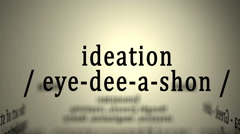 Definition: Ideation Stock Footage