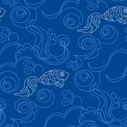 Stock Illustration of Blue wallpaper pattern