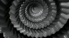 Stock Video Footage of metalic cube twirl