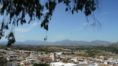 Stock Video Footage of Panoramic of Cartama, typical town of Andalusia, Spain.