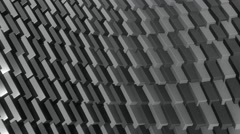 Cube row monochromatic Stock Footage