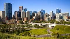 Daytime View of The Calgary Skyline - stock photo