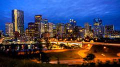 Stock Photo of Calgary Skyline at Night