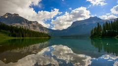 Emerald Lake in Yoho National Park Stock Photos