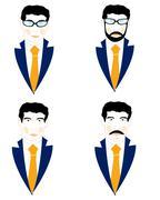 Set of the icons men - stock illustration