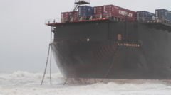 Storm Waves Hit Ship Stock Footage