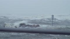 Wild Hurricane Waves Stock Footage