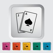 Blackjack Stock Illustration