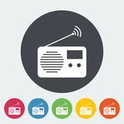 Radio icon Stock Illustration