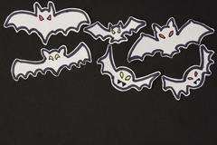 Halloween decorations bats Stock Illustration