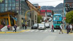 Ushuaia Argentina Street Scene Stock Footage