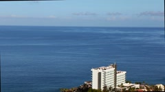 Los Gigantes town view with Atlantic sea and cliffs, Tenerife - stock footage