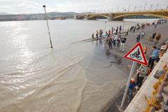 Flooded Budapest - stock photo