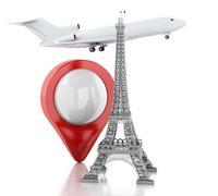 3d Eiffel tower, travel to paris concept. - stock illustration