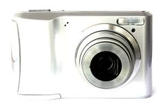 Digital camera isolated on white Stock Photos