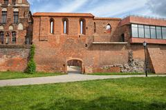 Torun City Wall Fortification - stock photo
