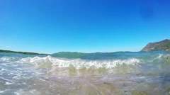 Close up of mediterranean waves Stock Footage