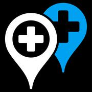 Stock Illustration of Hospital Map Markers Icon
