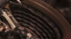 Transmission speed a bicycle and circuit rear wheel Stock Footage