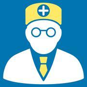 Head Physician Icon Stock Illustration