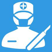 Surgeon Icon - stock illustration