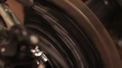Transmission speed bicycle and circuit rear wheel - stock footage