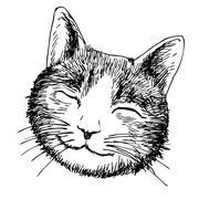 Smile cat head Stock Illustration