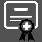 Medical Certificate Icon Stock Illustration