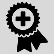 Medical Quality Seal Icon - stock illustration