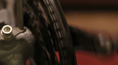 Transmission speed circuit bicycle wheel Stock Footage