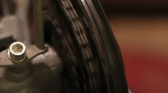 Transmission speed bicycle chain on sprocket - stock footage