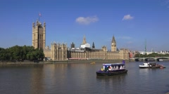 The Houses of Parliament & the Elizabeth Tower (in 4k), London, UK. - stock footage